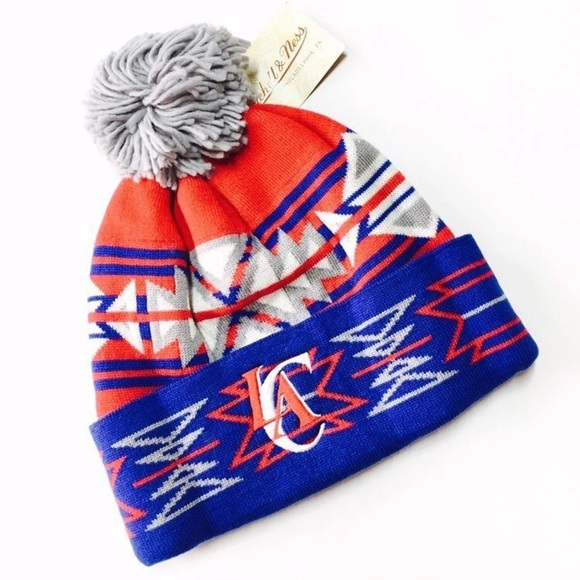 e6a33ca5573 New NBA LA Clippers Geotech Pom Beanie Hat